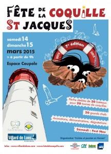 affiche 2015 Fête coquille St-Jacques Villard de Lans