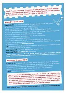 affiche 2015 Fête coquille St-Jacques Villard de Lans - programme