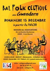 affiche celtigone - bal du 15 decembre
